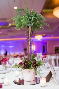 Tall Winter Centerpiece by Geneva, Illinois Florist