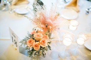 pretty pink reception centerpieces by geneva, illinois florist