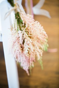 pink whimsical aisle decor