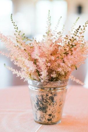 pink floral wedding decor