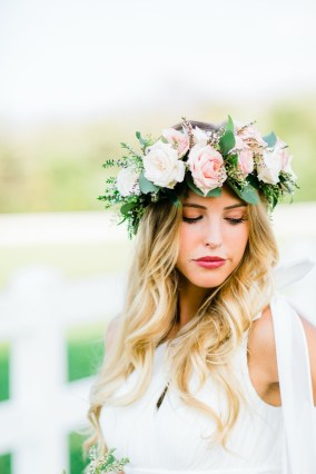 Pink and White whimsical floral crown