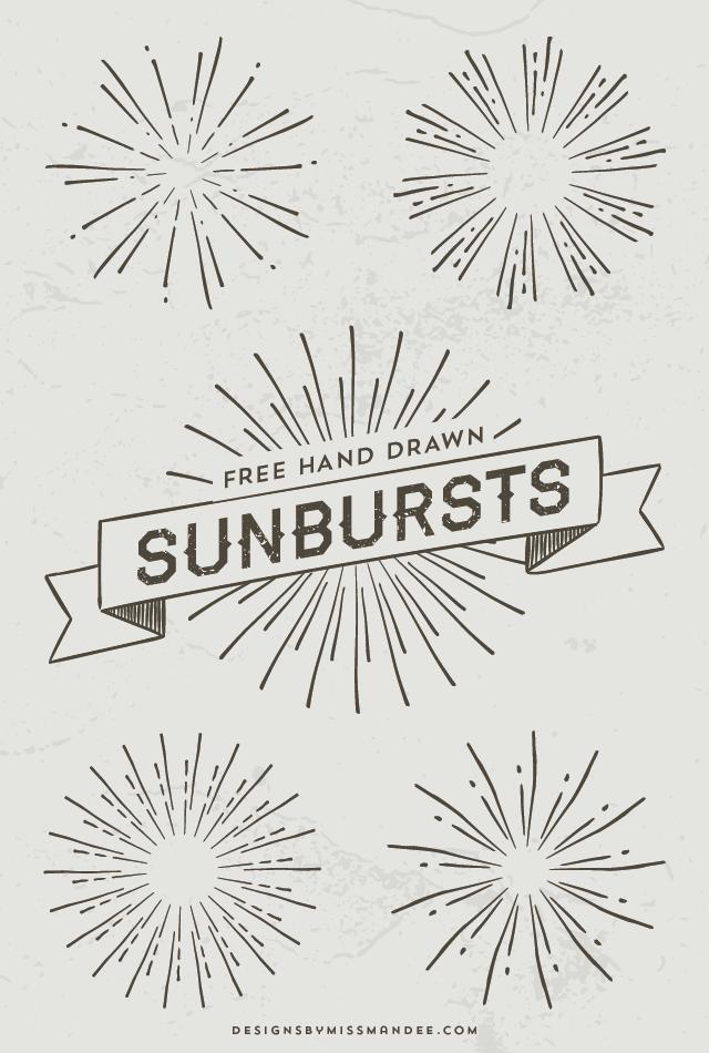 Hand Drawn Sunbursts