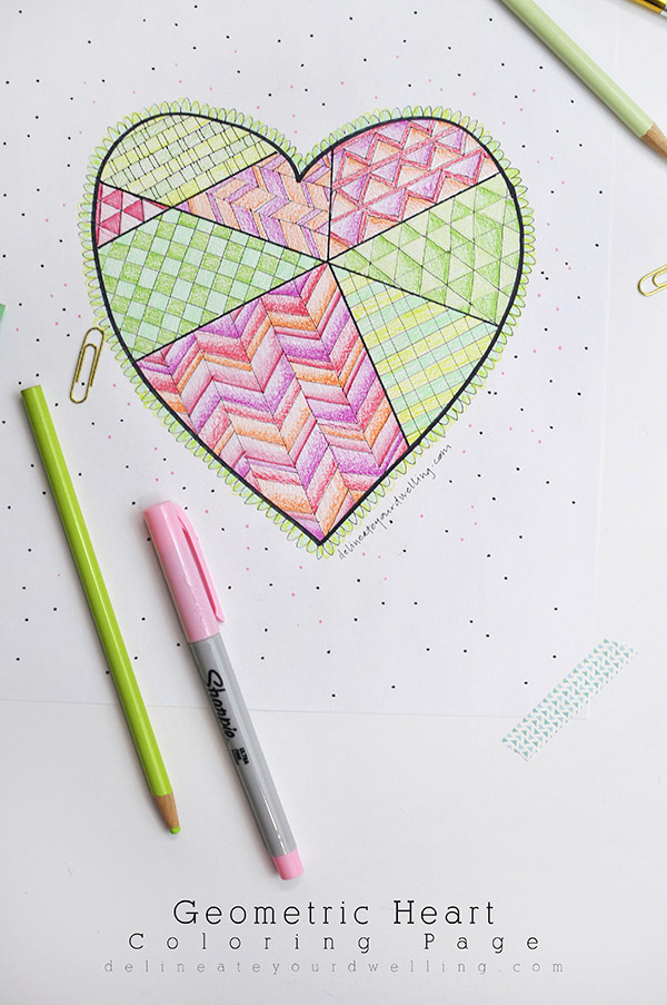 Geometric-Heart-Coloring-Page-1