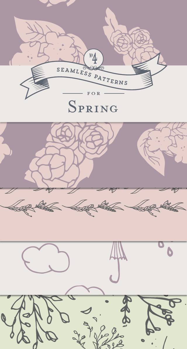 Spring Seamless Patterns