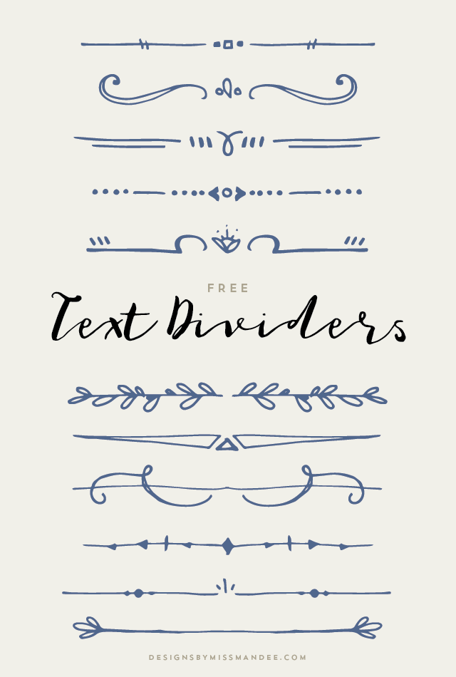 text dividers designs by