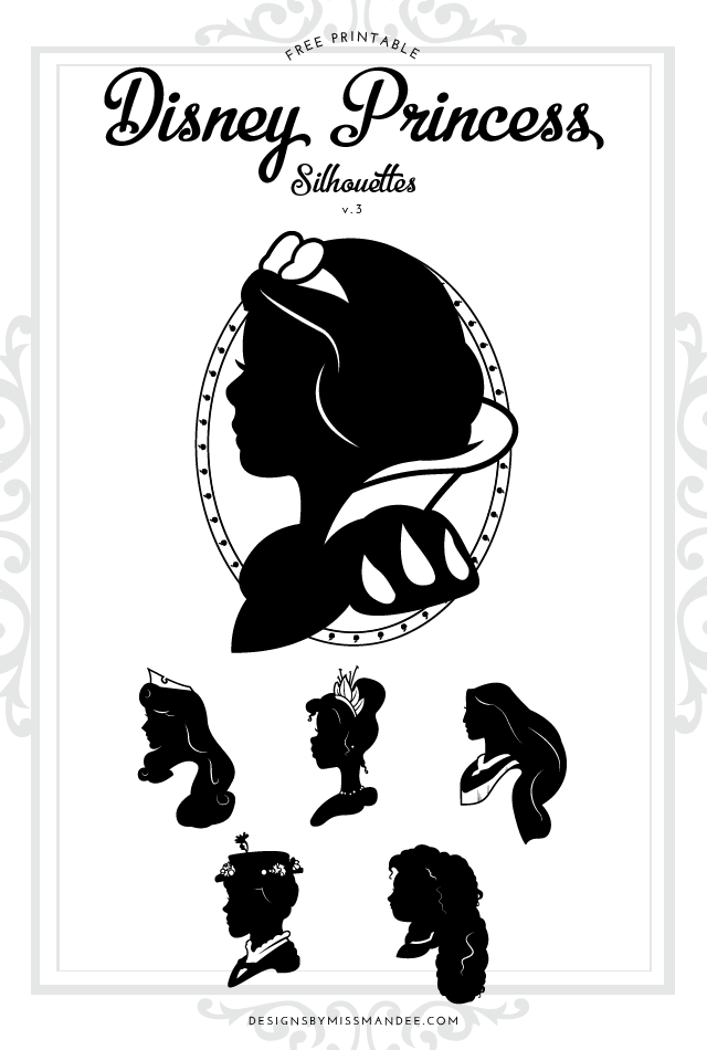 Disney Princess Silhouettes v.3