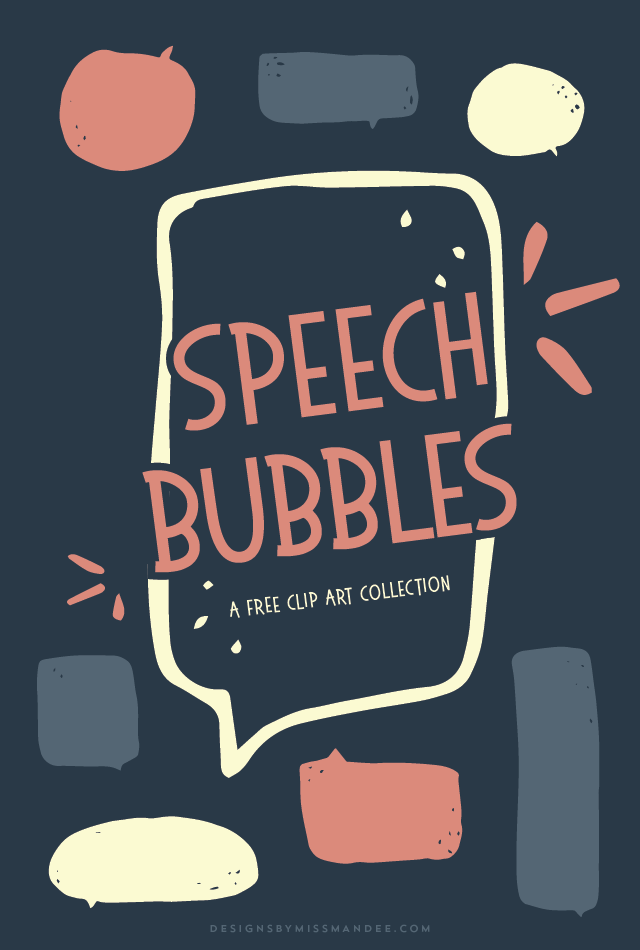 Speech Bubbles  Free Clip Art Collection  Designs By