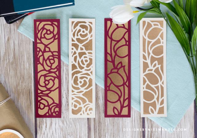 Die Cut Floral Bookmarks
