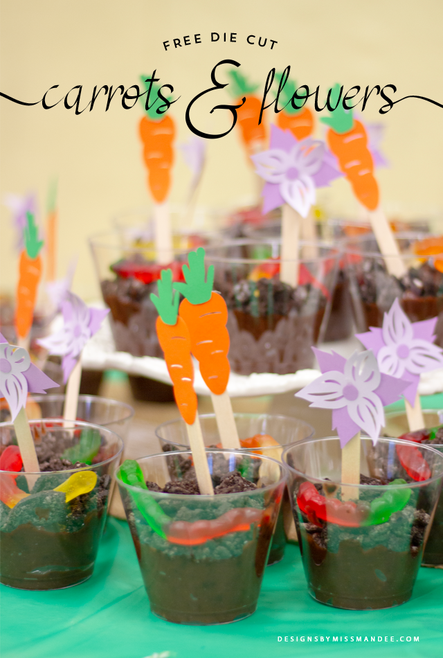 Die Cut Carrots and Flowers