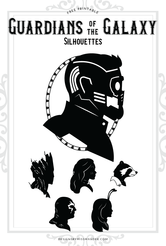 Guardians of the Galaxy Silhouettes