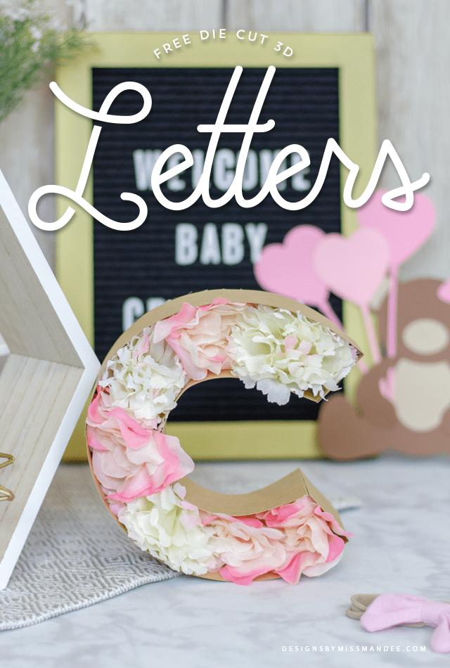 Die Cut 3D Letters