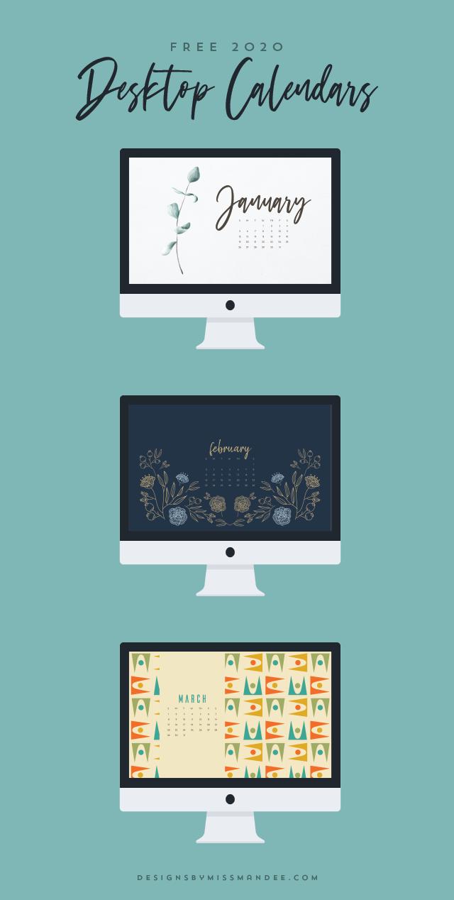 2020 Desktop Calendars