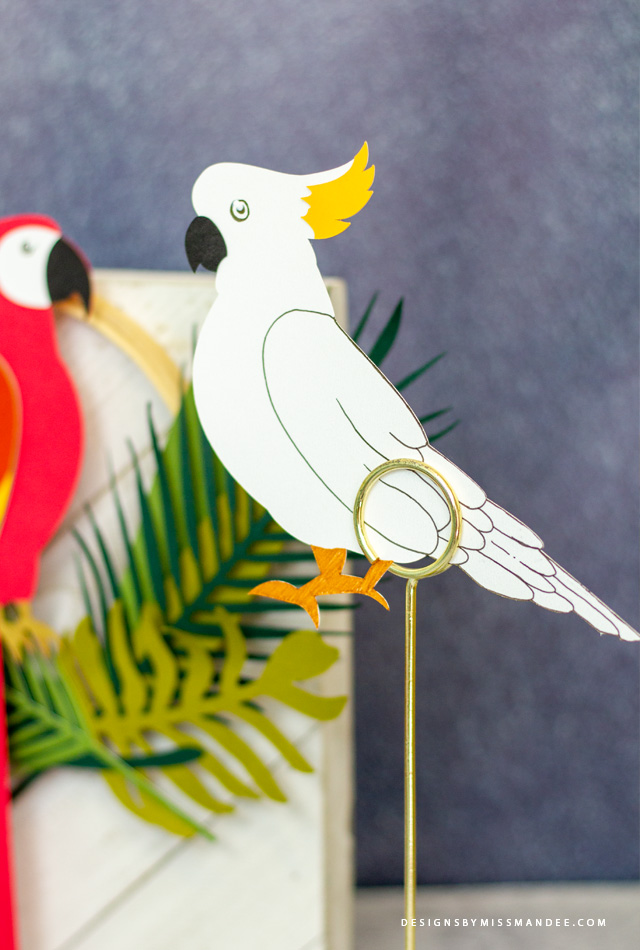 Die Cut Tropical Birds