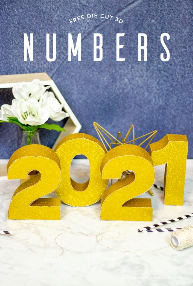 Die Cut 3D Numbers