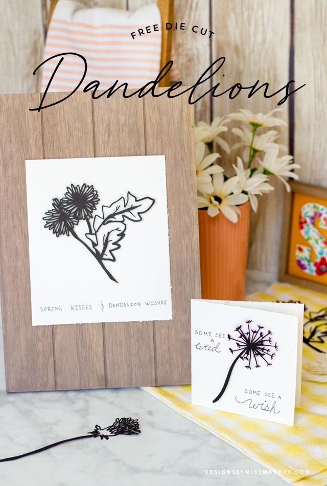 Die Cut Dandelions