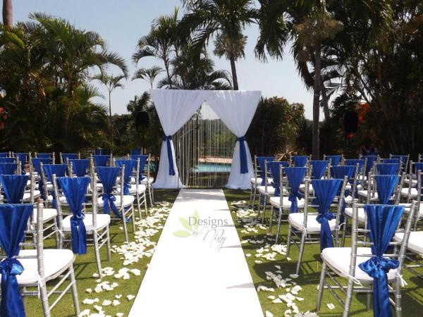 Royal Blue & Blush Wedding Caymanas Golf Country