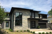 Modern Stucco and Stone Exterior