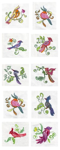 FREE BIRD EMBROIDERY DESIGN  EMBROIDERY & ORIGAMI