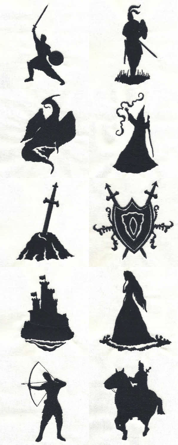 Medieval Silhouettes Machine Embroidery Designs