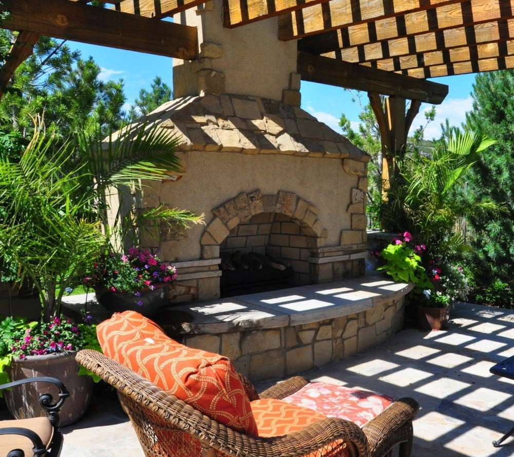 Outdoor Fireplaces Outdoor Fire Pits Designscapes Colorado