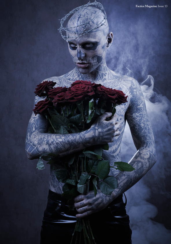Fall Halloween Wallpaper Rick Genest By Stephane Roy For Factice