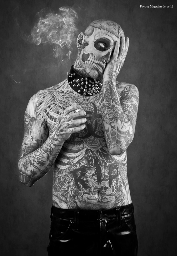 Zombie Girl 3d Wallpaper Rick Genest By Stephane Roy For Factice