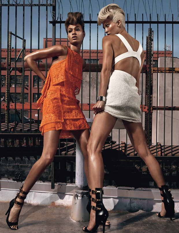 Joan Smalls and Karlie Kloss by Steven Klein for W Magazine