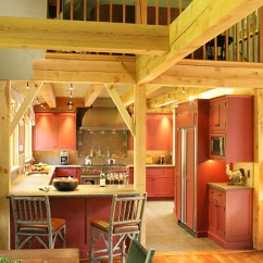 Backsplash Kitchen Appliance Vermont Country In Post And Beam Home | Designs ...