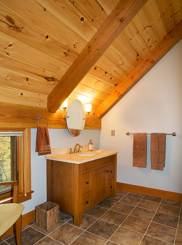 Rustic Contemporary Bathrooms Fit in with a Timber Frame