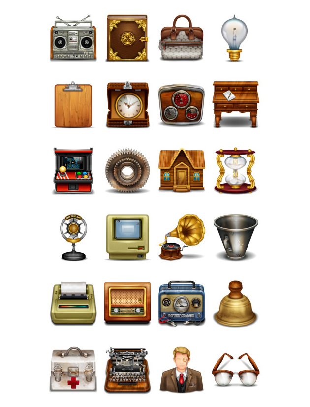 retro and vintage icons