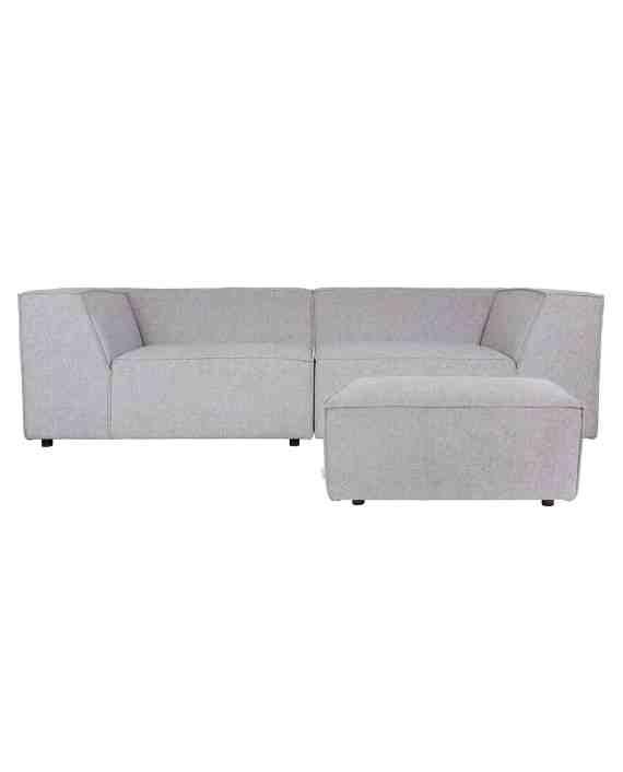 King sofa Zuiver lichtgrijs