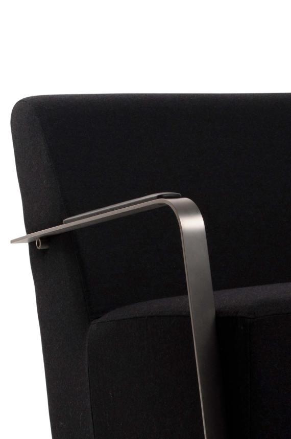 Adwin loungestoel Zuiver zwart 5