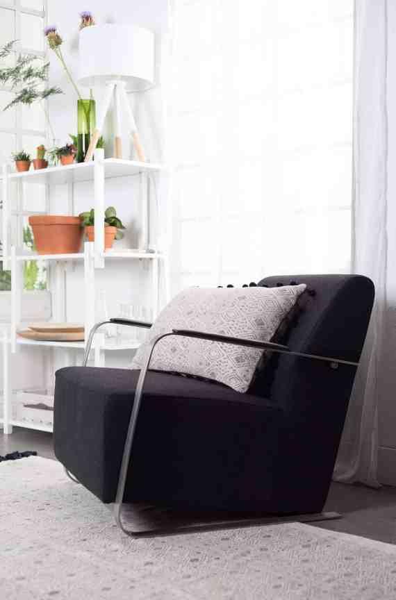 Adwin loungestoel Zuiver zwart 6