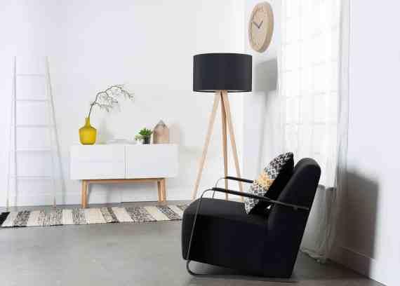 Adwin loungestoel Zuiver zwart 7