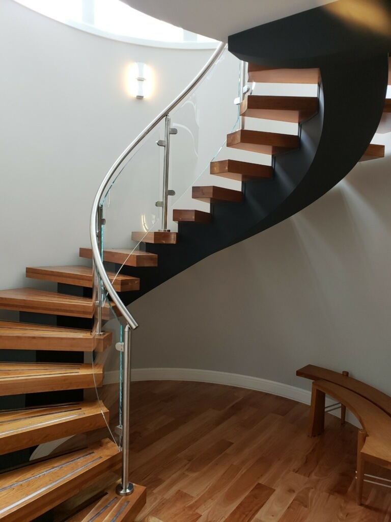 Glass Railing Installation Se Michigan Designs In Glass   Staircase Railing Designs In Wood And Glass   Frosted Glass   Low Cost   Stair Handrail   Wooden   Solid Wood