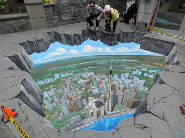 Breathtaking 3d Street Art - Chalk
