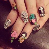 DIY Halloween Nail Paint Art Designs Ideas 2015
