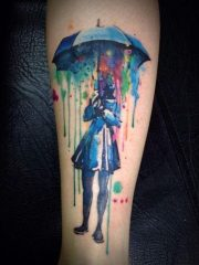 cool watercolor tattoos 2017