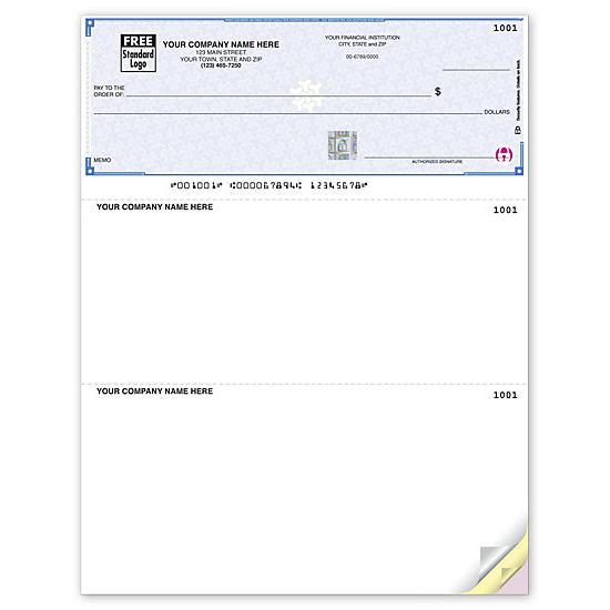 QuickBooks Laser 3-To-A-Page Checks, Lined DLA104