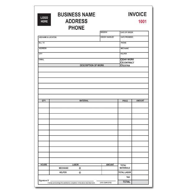 Custom Business Forms Invoices Receipts Continuous Printing DesignsnPrint