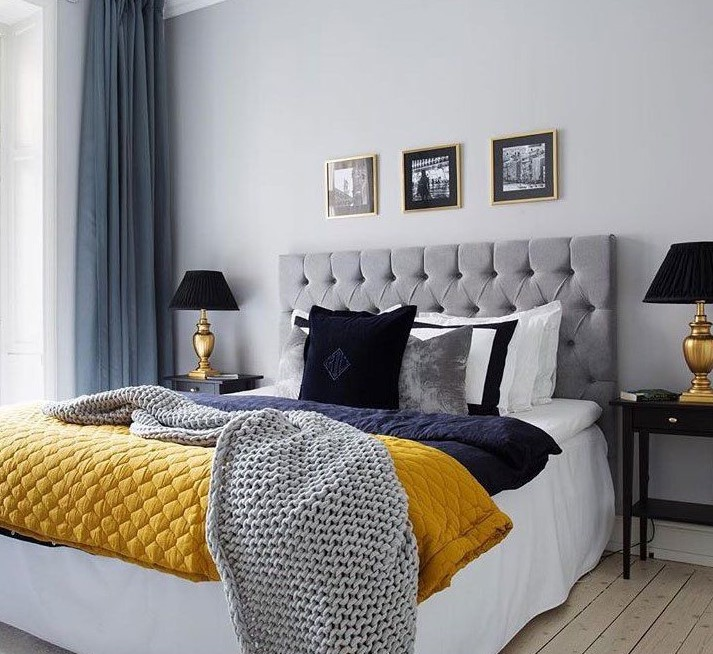 grey and navy bedrooma ideas