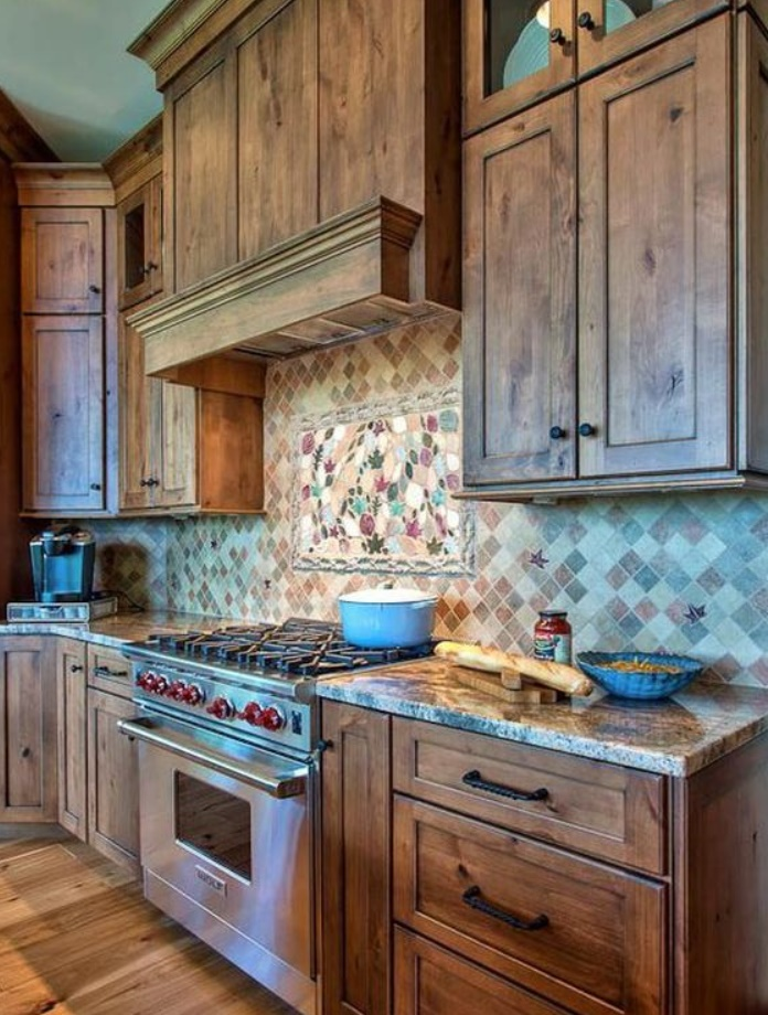 Earth-Toned Rustic Kitchen