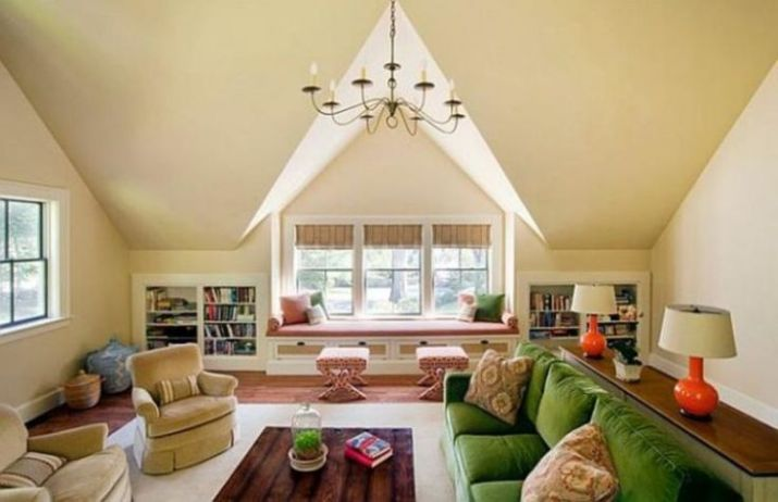 attic living room decorating ideas