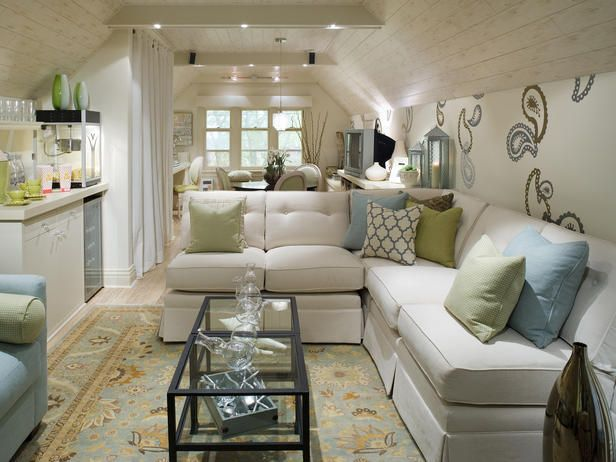 modern attic living room ideas