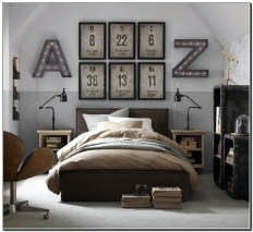 Masculine Bedrooms Apartment Decorating Interior Design for Men 11