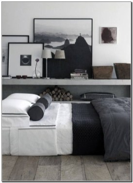 Masculine Bedrooms Apartment Decorating Interior Design for Men 18