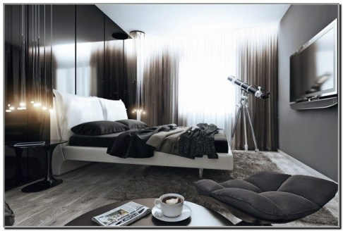 Masculine Bedrooms Apartment Decorating Interior Design for Men 51