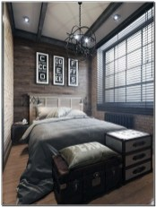 Masculine Bedrooms Apartment Decorating Interior Design for Men 58