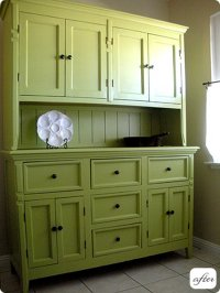before & after: hutch, cabinet and desk makeovers  Design ...