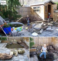 before & after: karens amazing diy backyard  Design*Sponge